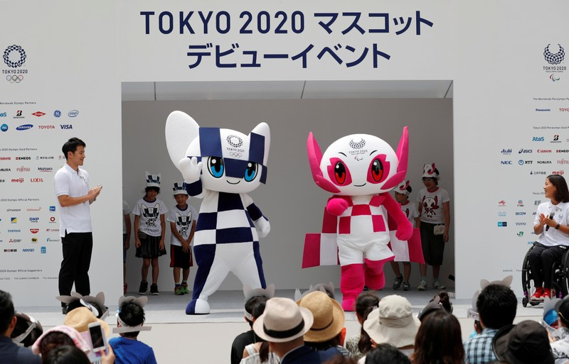 FILE PHOTO: Tokyo 2020 Olympic Games mascots' debut