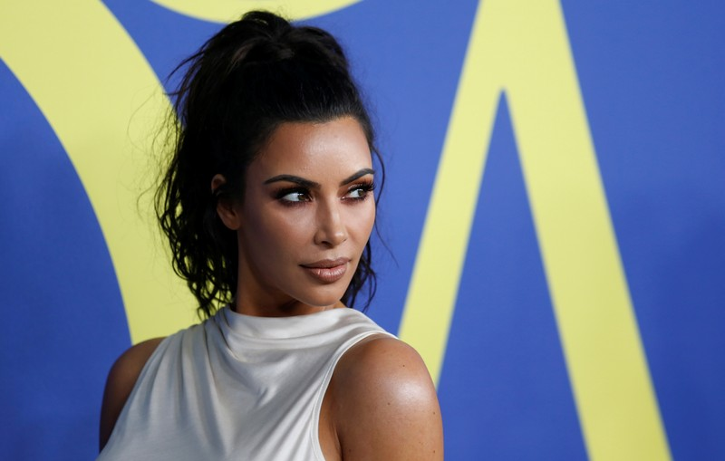 Kim Kardashian attends the CFDA Fashion awards in Brooklyn