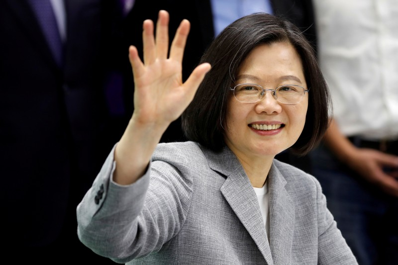 FILE PHOTO: Taiwan President Tsai Ing-wen attends a ceremony to sign up for Democratic Progressive Party's 2020 presidential candidate nomination in Taipei