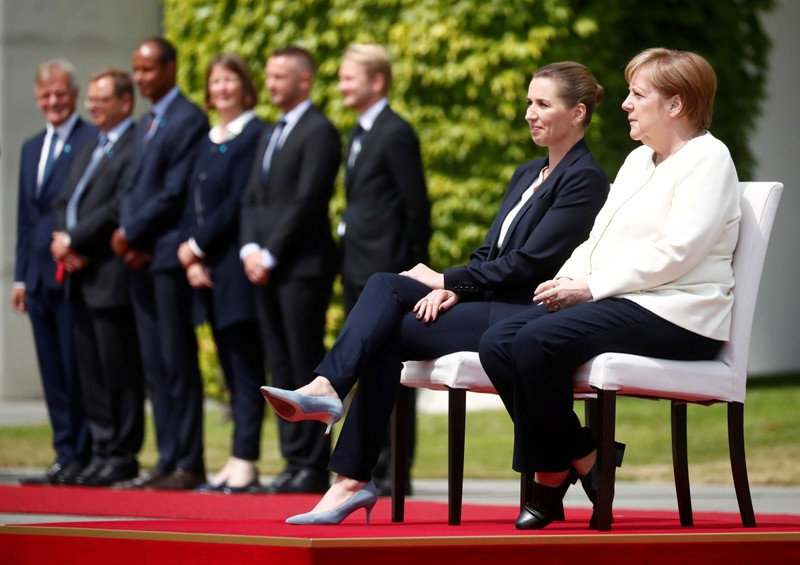 German Chancellor Merkel receives Denmark's Prime Minister Frederiksen in Berlin
