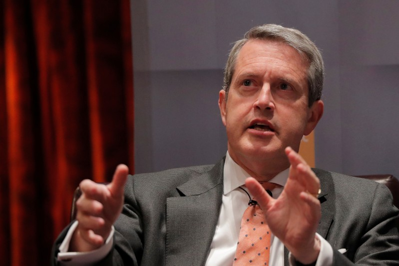 Federal Reserve Vice Chairman for Supervision Randal Quarles addresses the Economic Club of New York in New York