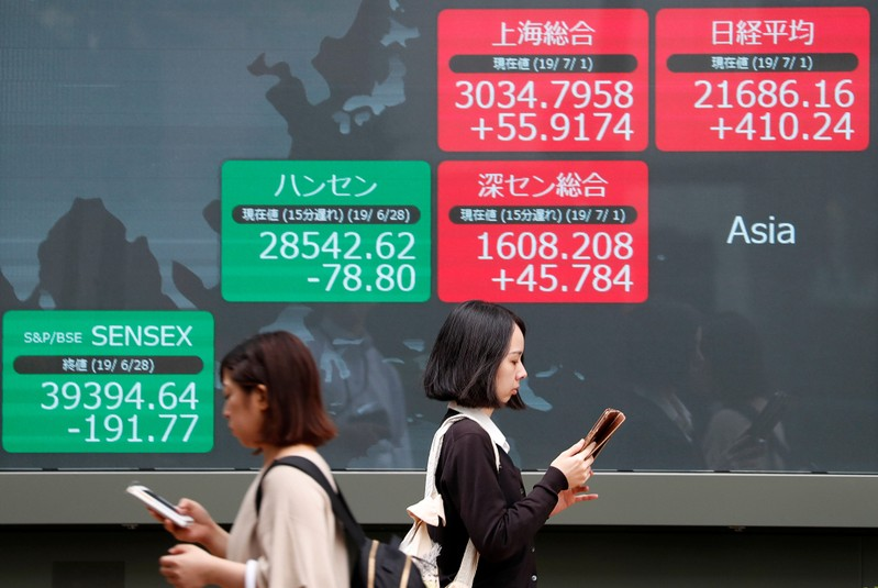 Image result for Asian shares veer between gains and losses before key China data