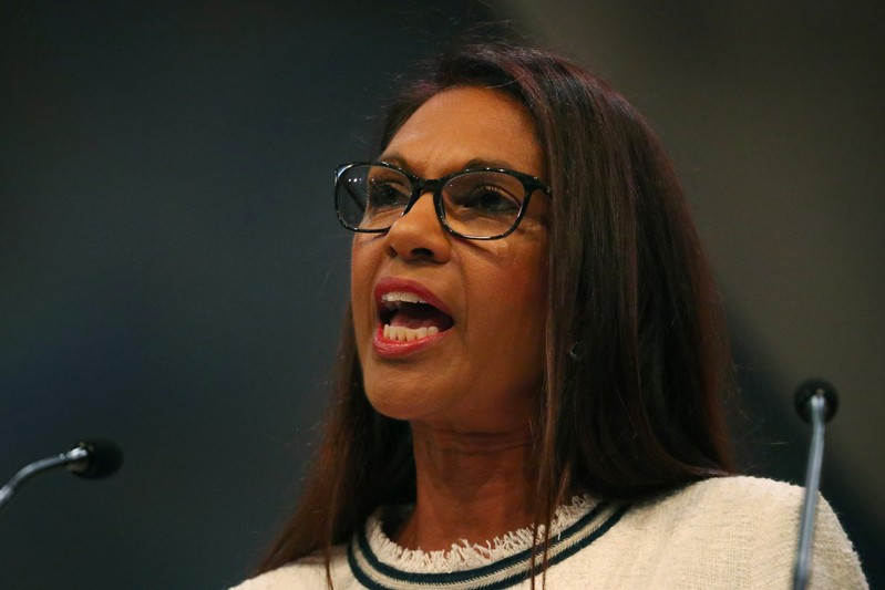 FILE PHOTO: Anti-Brexit campaigner Gina Miller addresses the audience at the Liberal Democrats Conference in Brighton