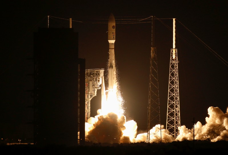A United Launch Alliance Atlas 5 rocket lifts off from the Cape Canaveral Air Force Station in Cape Canaveral