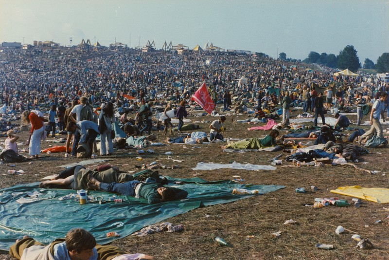 Attendees at the Woodstock Music Festival in August 1969, Bethel, New York, U.S. in this handout image.