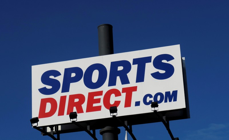 FILE PHOTO: Company logo is seen outside a Sports Direct store in Vienna