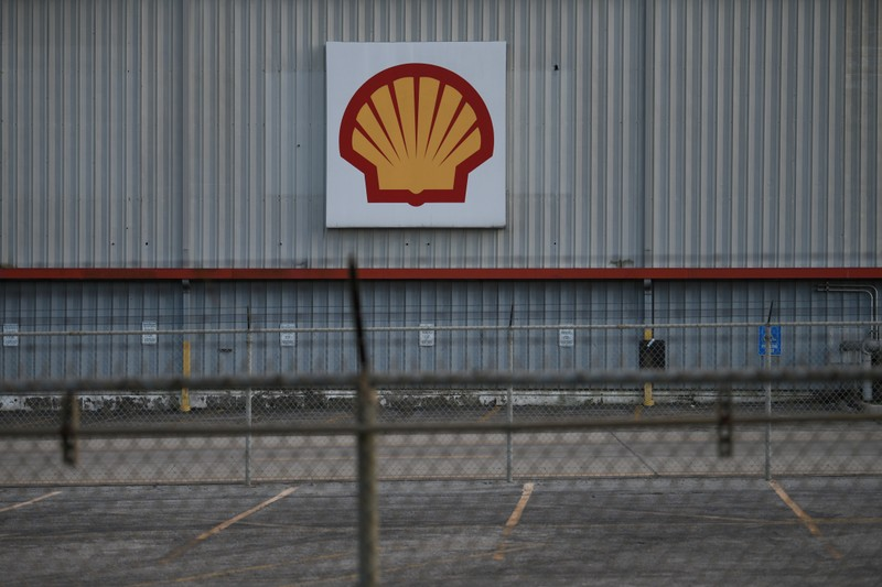 FILE PHOTO - A sign is seen at a Shell facility near the Houston Ship Channel in Galena Park
