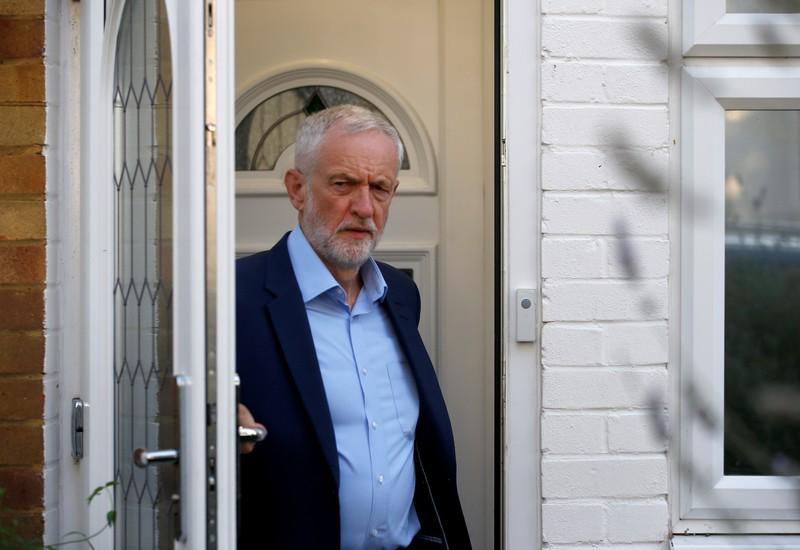 Labour Party's Corbyn meets senior lawmakers to stop no-deal Brexit