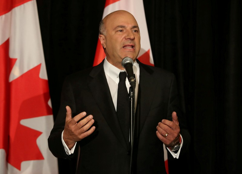 FILE PHOTO: Conservative Party of Canada's leadership candidate Kevin O'Leary speaks at a news conference in Toronto, Canada
