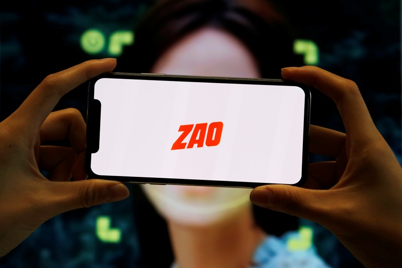 FILE PHOTO:  Illustration picture of Chinese app ZAO
