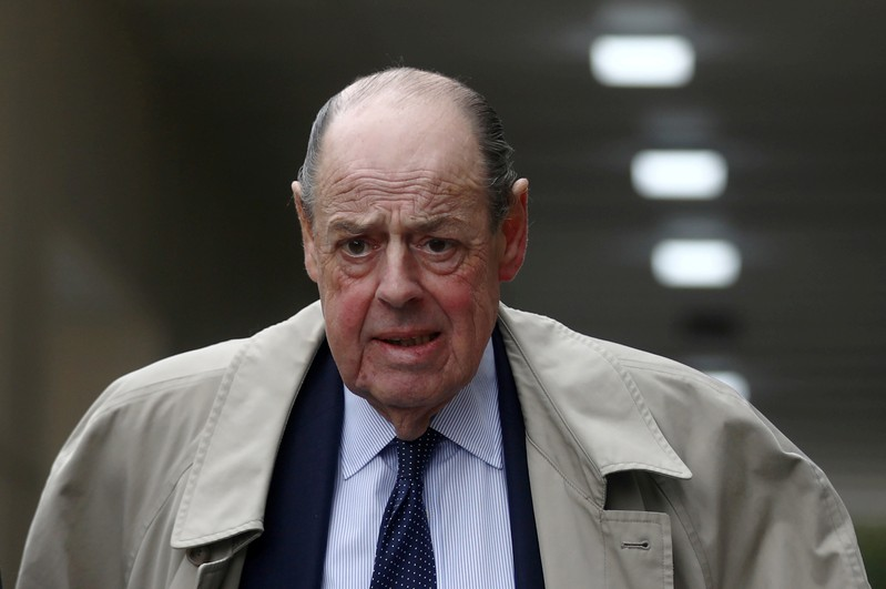 FILE PHOTO: Conservative Member of Parliament Nicholas Soames walks in Westminster, in London