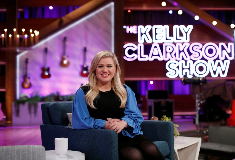 Celebrity Culture: Singer Clarkson poses for a portrait on the set of The Kelly Clarkson Show in North Hollywood