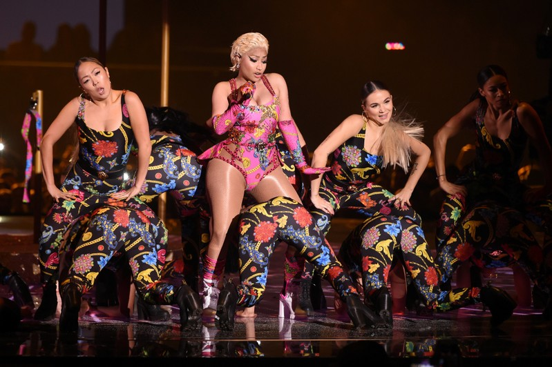 FILE PHOTO: Singer Nicki Minaj performs at the 2018 MTV Europe Music Awards at Bilbao Exhibition Centre in Bilbao
