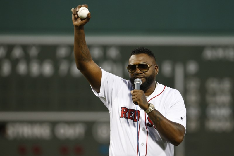Big Papi surprises fans with 1st pitch at Fenway