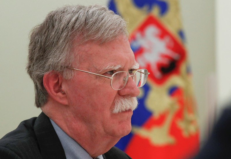 U.S. National Security Adviser Bolton attends a meeting with Russian President Putin in Moscow
