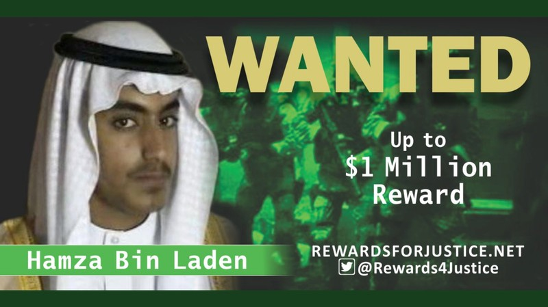 Reward notice for Hamza bin Laden