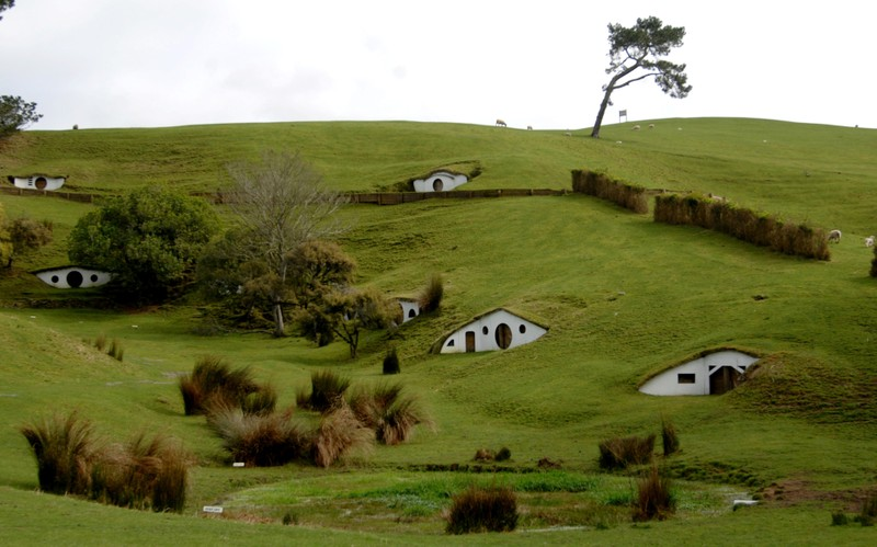 FILE PHOTO: The remains of the Hobbiton movie set from the film the Lord of the Rings at the town of Matamata