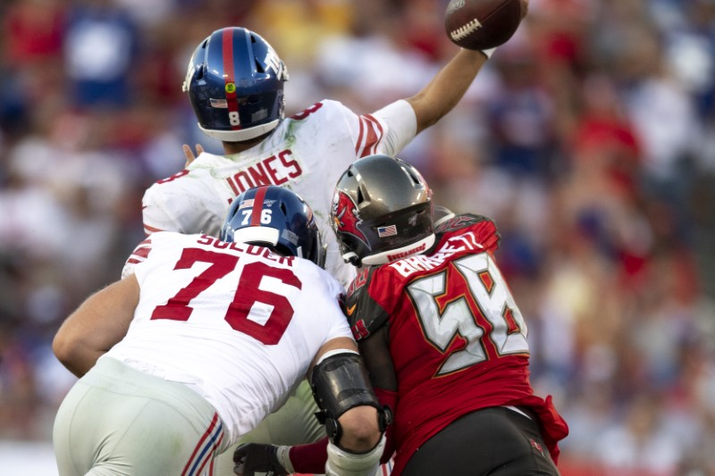 cheap for discount 733f4 d87e1 NFL roundup: Jones rallies Giants past Bucs in debut | One ...