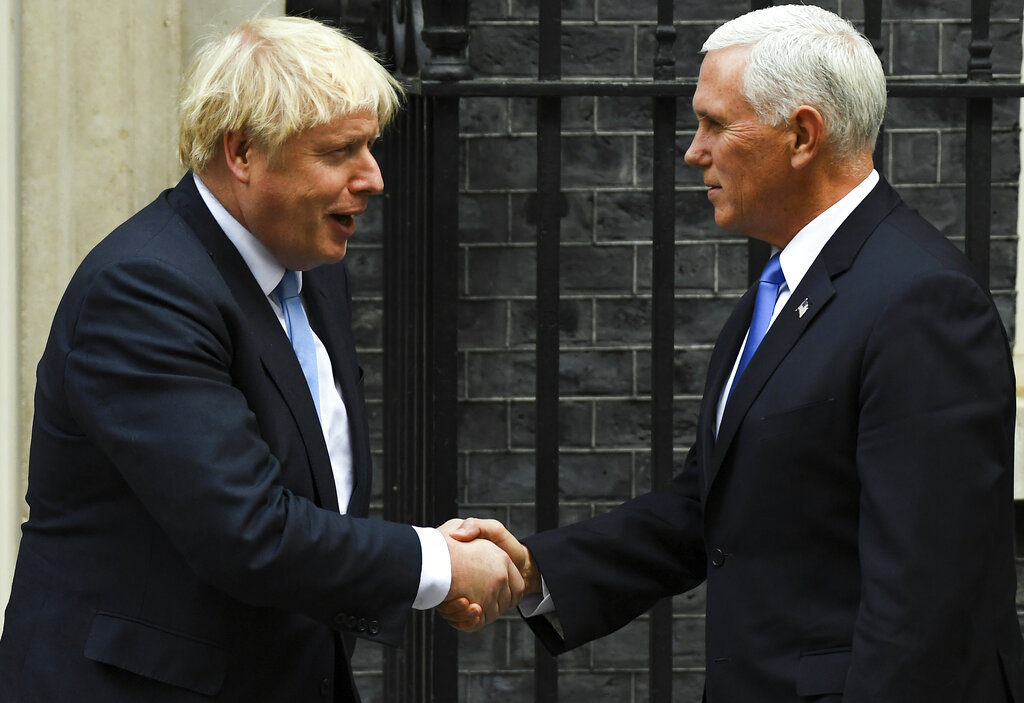 Vice President Mike Pence meets with British prime minster in London
