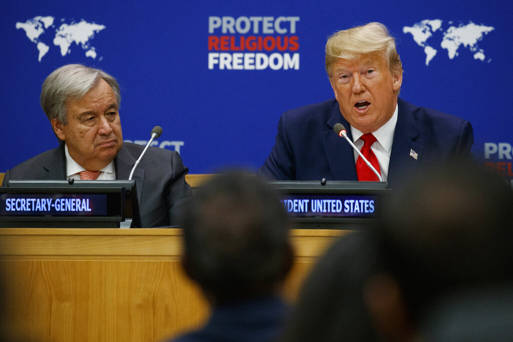 Trump out to square America First with united front on Iran