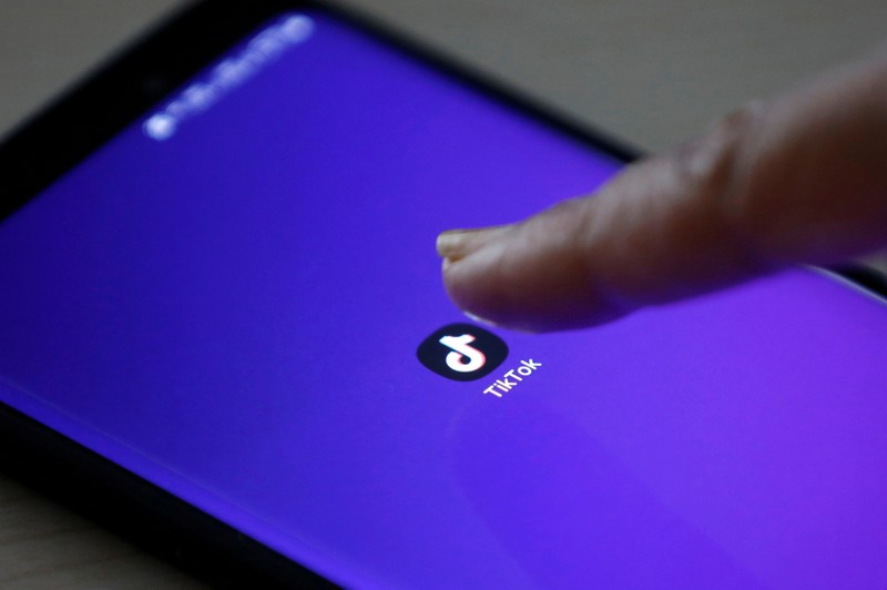 FILE PHOTO: The logo of TikTok application is seen on a mobile phone screen in this picture illustration