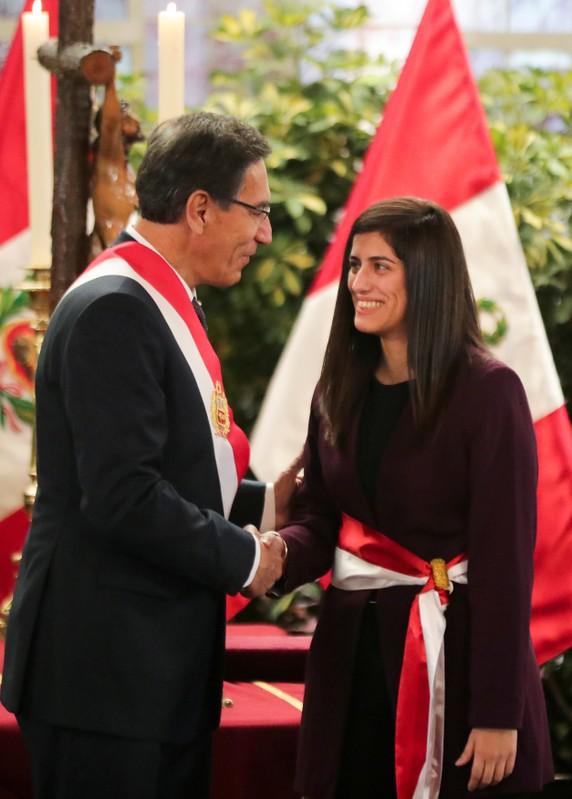 FILE PHOTO: Peru's President Martin Vizcarra attends a swearing-in ceremony at the government palace in Lima