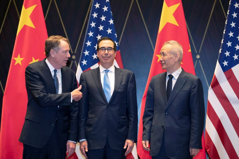 U.S. Treasury Secretary Steven Mnuchin and U.S. Trade Representative Robert Lighthizer met with Vice Premier Liu He and other senior Chinese officials for about seven hours at the USTR's headquarters near the White House.
