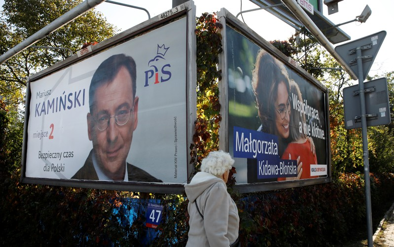 The Law and Justice party (PiS) is expected to win more votes than it did in 2015