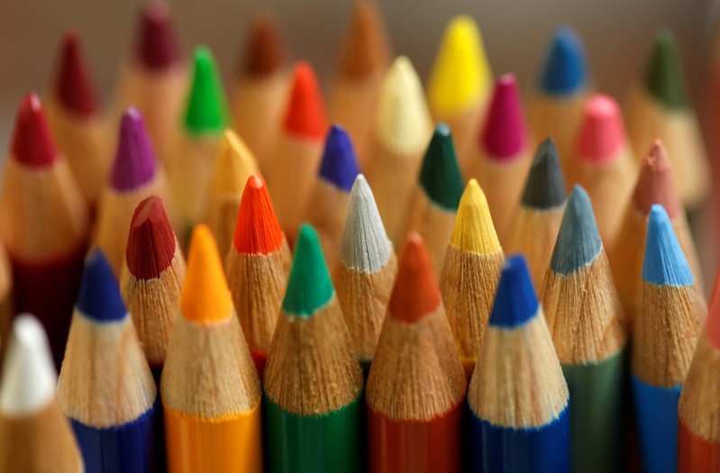 FILE PHOTO: Wood-cased coloured pencils are pictured in a shop at Faber-Castell manufacturer in Stein