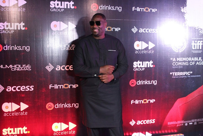 British-born Nigerian actor Adewale Akinnuoye-Agbaje poses at the premier of his film