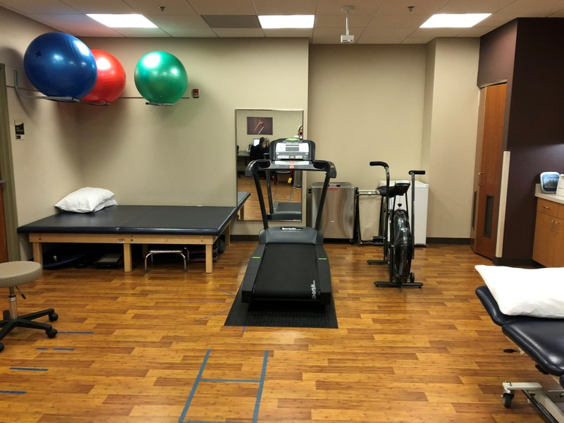 FILE PHOTO: A physical therapy room is seen at an onsite health clinic at the Intel corporate campus in Hillsboro