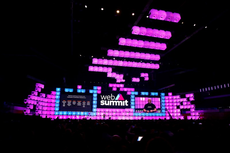 General view of the central stage of the Web Summit, in Lisbon