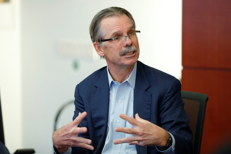 Glenn Hutchins, co-founder of Silver Lake Partners, speaks during a Reuters investment summit in New York City