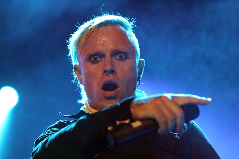 FILE PHOTO: Prodigy vocalist Keith Flint performs at Gurten Festival near Berne.