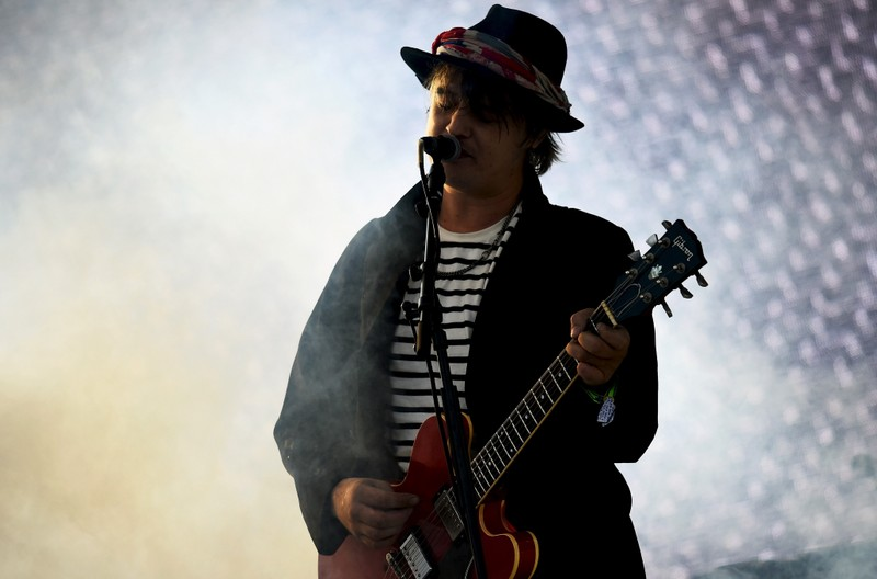 FILE PHOTO - Pete Doherty of The Libertines performs on the Pyramid stage at Worthy Farm in Somerset during the Glastonbury Festival