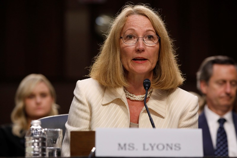 FILE PHOTO: Susanne Lyons, Acting Chief Executive Officer of United States Olympic Committee testifies before a Commerce Subcommittee hearing entitled