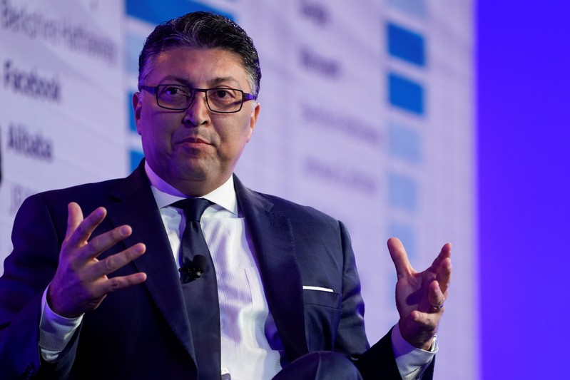 Makan Delrahim, assistant Attorney General, Antitrust Division, U.S. Department of Justice speaks at the WSJTECH live conference in Laguna Beach, California