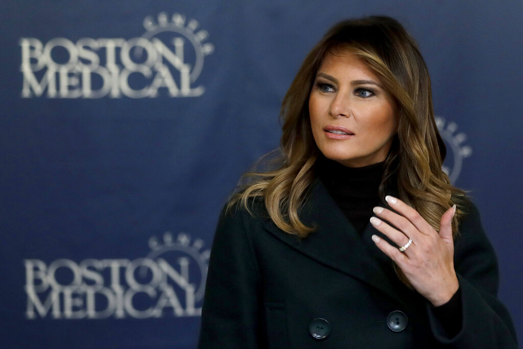 Protesters demand Melania Trump CANCEL Boston hospital visit