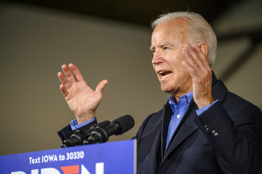 Biden takes to Iowa back roads to shore up flagging rural support