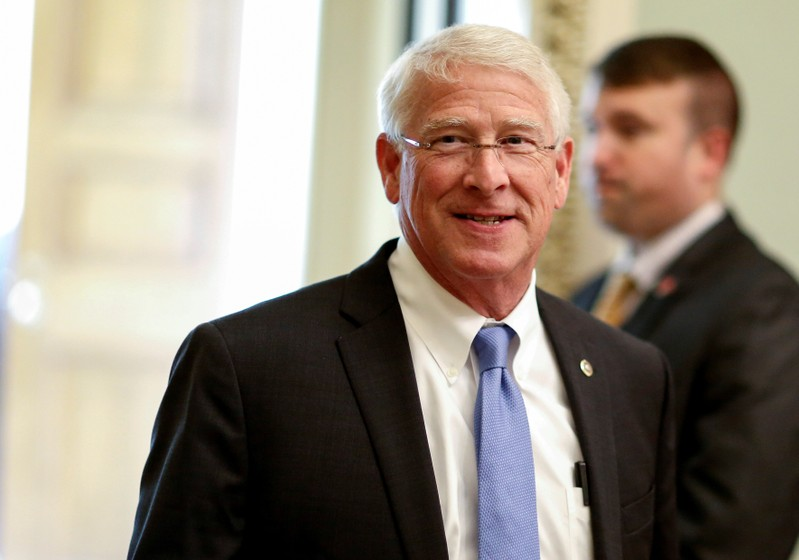 FILE PHOTO: Senator Roger Wicker (R-MS) walks in the U.S. Capitol in Washington, DC