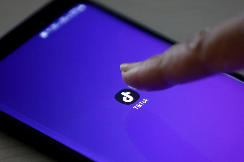 FILE PHOTO: The logo of the TikTok app is seen on a mobile phone screen