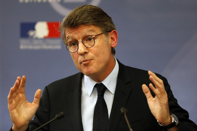 French Education Minister Peillon speaks during a news conference about the PISA 2012 study results at the Ministry in Paris