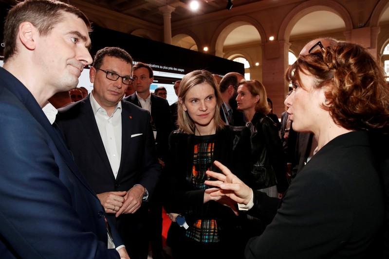 FILE PHOTO: French Junior Minister for Economy and Finance Agnes Pannier-Runacher attends the Orange Business Summit in Paris