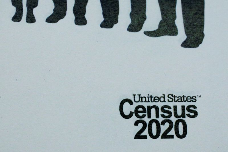 FILE PHOTO: An informational pamphlet is displayed at an event for community activists and local government leaders to mark the one-year-out launch of the 2020 Census efforts in Boston