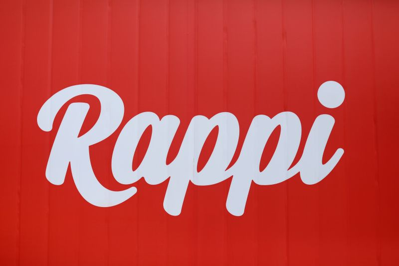 FILE PHOTO: The logo of the Colombian on-demand delivery company Rappi is seen in Bogota