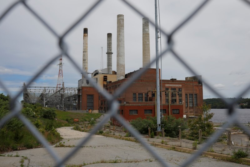 FILE PHOTO: A fence closes off the closed coal-fired Somerset power plant in Somerset