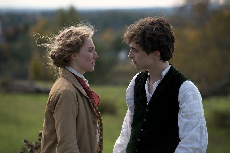 Saoirse Ronan and TimothŽe Chalamet in Columbia PicturesÕ LITTLE WOMEN