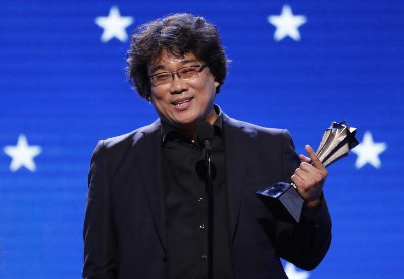 25th Critics Choice Awards – Show – Santa Monica, California, U.S., January 12, 2020 - Director Bong Joon-ho accepts the Best Director award for