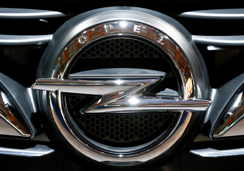 The logo of a German car manufacturer Opel is seen at Brussels Motor Show