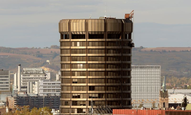 FILE PHOTO:  Headquarters of the Bank for International Settlements are seen in Basel